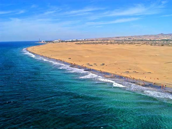 Strand und Sanddünen von Maspalomas