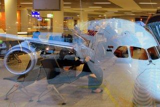 Reisegäste warte auf den nächsten Urlaubsflieger