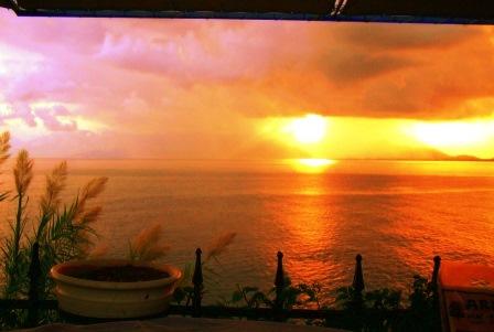 Sonnenuntergang an der tuerkischen Riviera